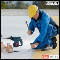 Fixare termo si hidroizolatie pe acoperis din beton –  ISOFAST® ( spike + taler )