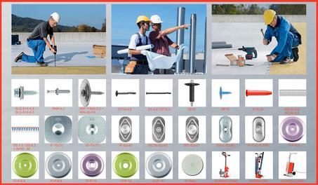 Fixari SFS intec pe tabla cutata, beton, lemn, B.C.A. pentru acoperis terasa